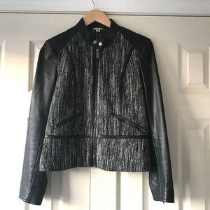 Calvin Klein Faux Leather/ Tweed Moto